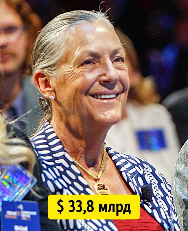 © en.wikipedia.org      Дочь основателя Wal-Mart Сэма Уолтона. Она согласилась принять до