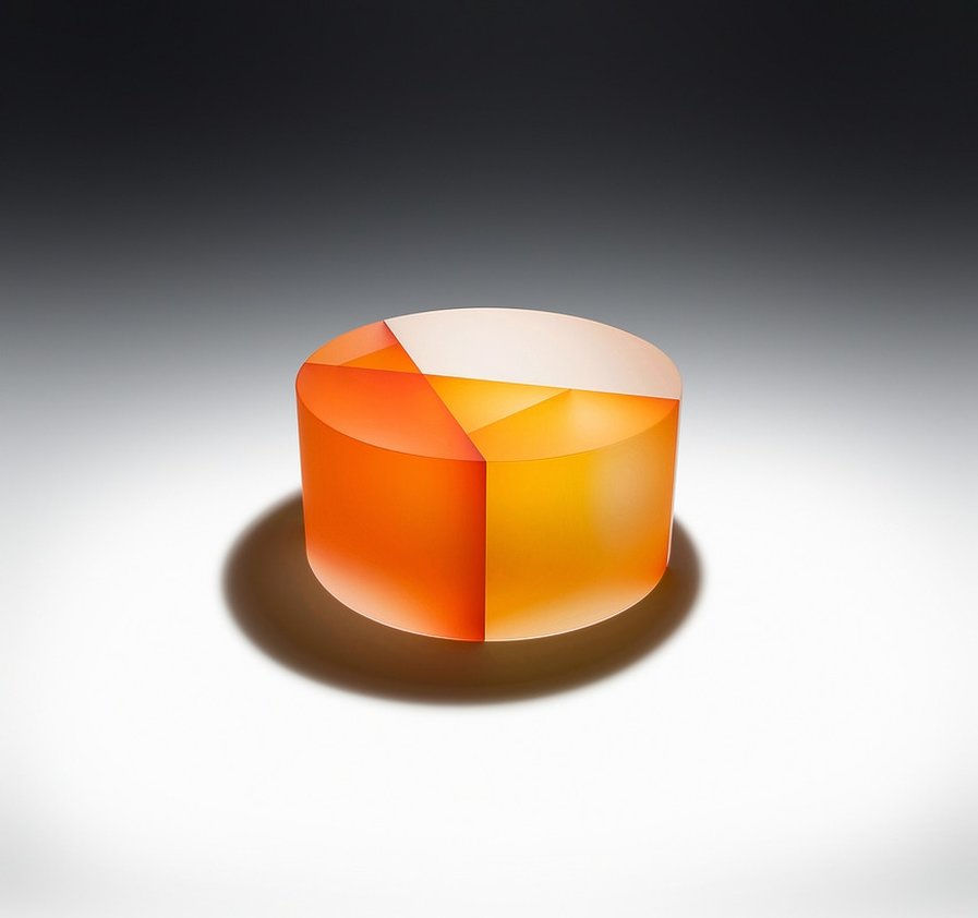 Geometric & Colorful Glass Sculptures by Jiyong Lee