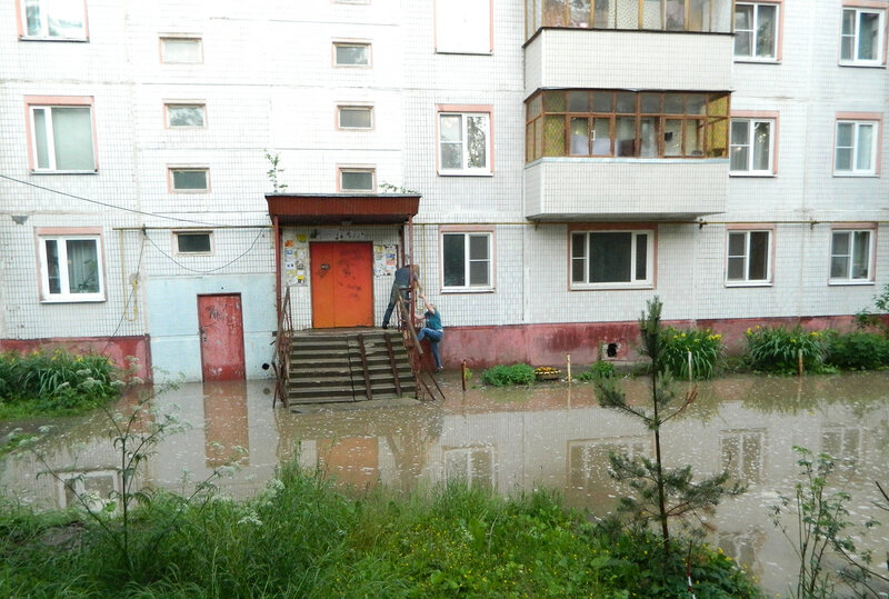Мой городок после дождя
