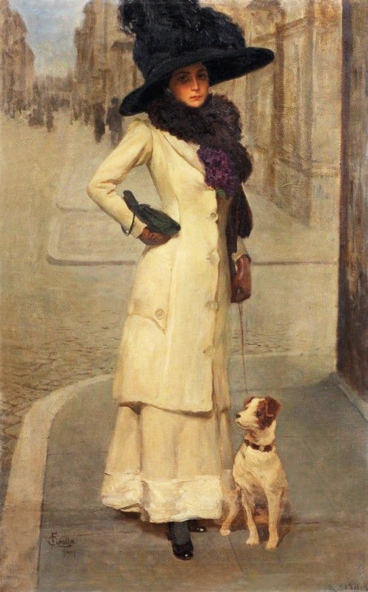 Signora con cane, 1911.jpg