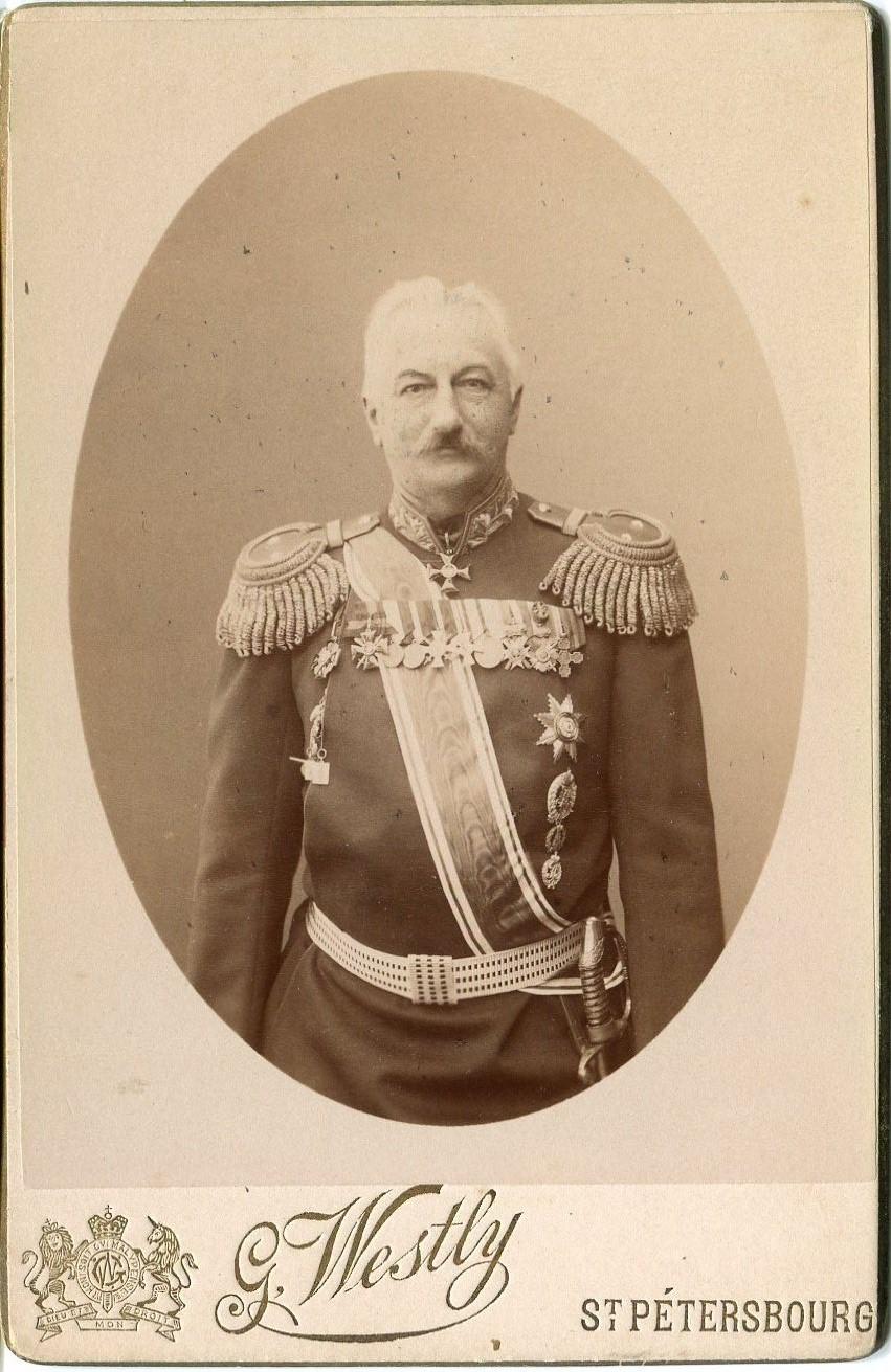 1898. Фотография генерал-майора К.П.Прежбяно. Флигель-адъютант. Генерал от артиллерии.