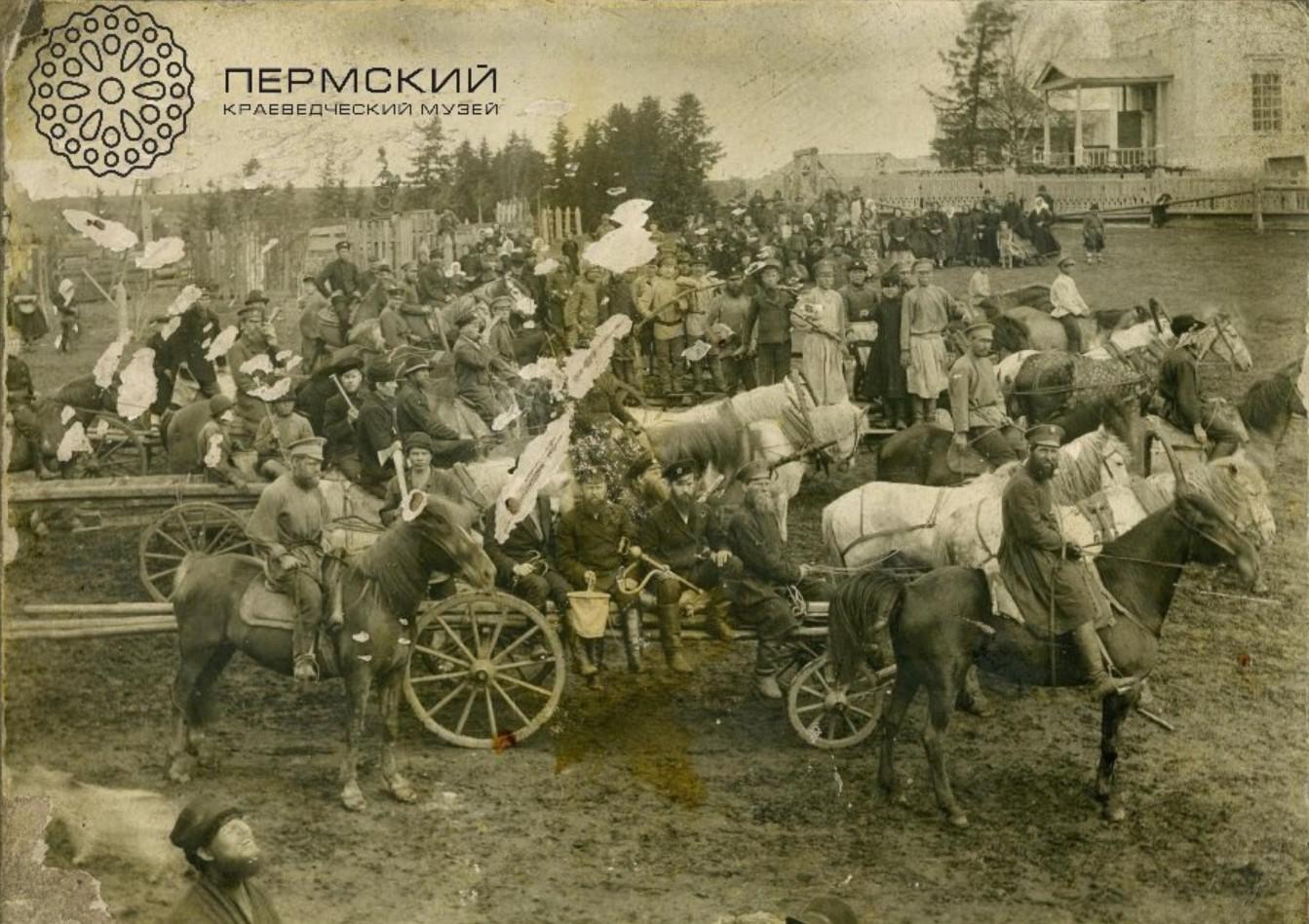 Окрестности Перми. Пожарные дружины. Село Сепыч, Оханского уезда