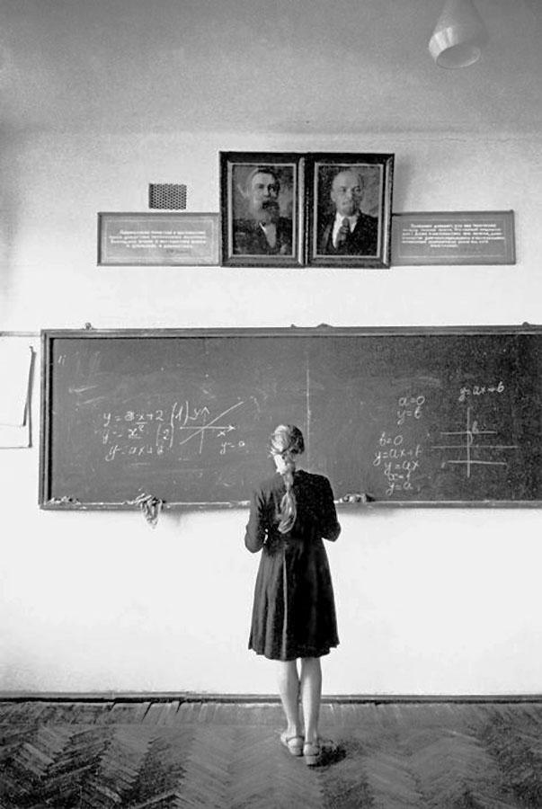Классная комната в школе СССР. 1966, Ева Арнольд (1012-2012)