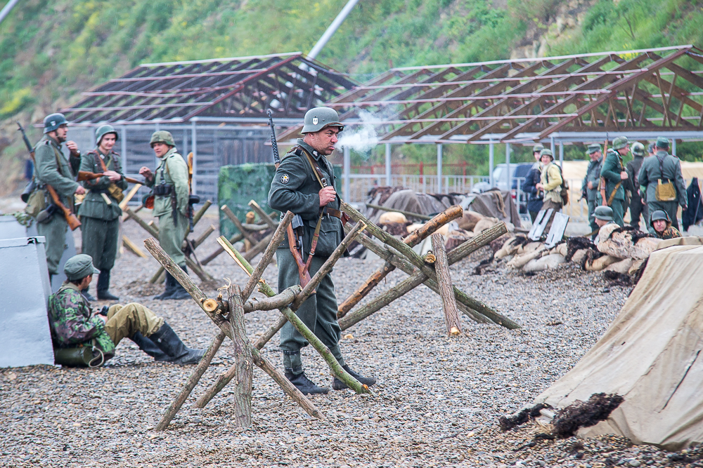 Реконструкция военная фото Анапа
