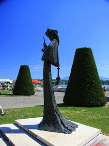 На набережной Женевского озера.