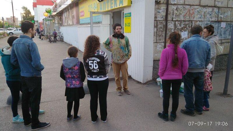 Мастер-класс Александра Жунева по нанесению рисунков на бетонные парковочные полусферы