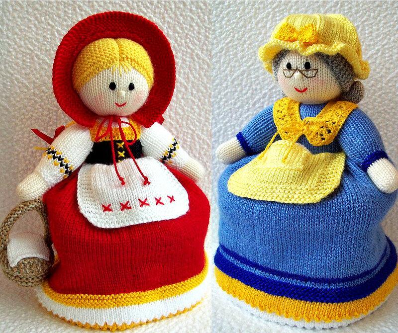 Вязаная кукла грелка на чайник своими руками 90