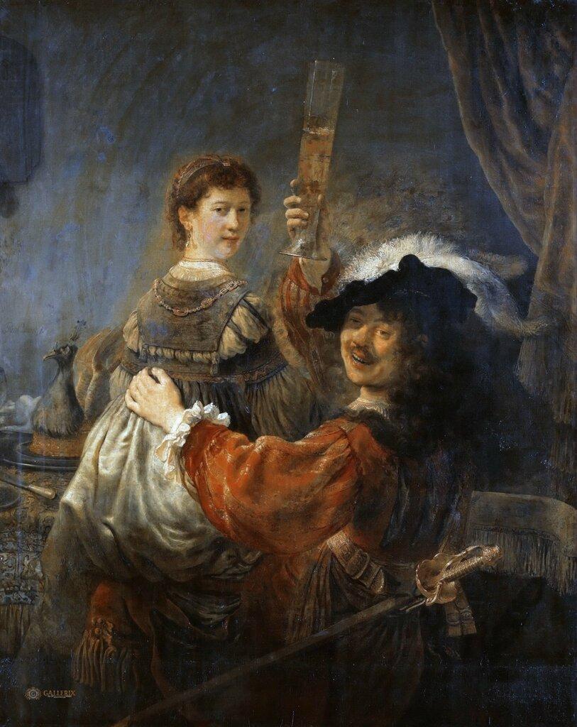 Автопортрет с Саскией в образе блудного сына