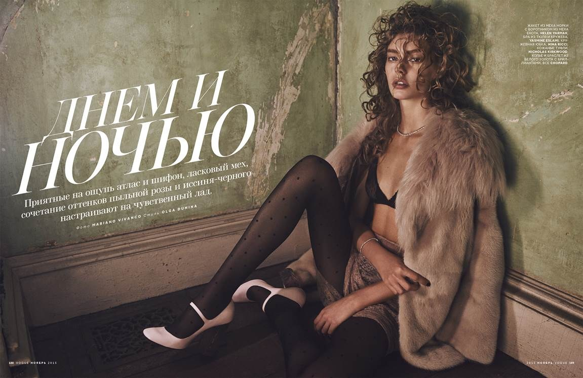 Ondria Hardin by Mariano Vivanco for Vogue Russia november 2015