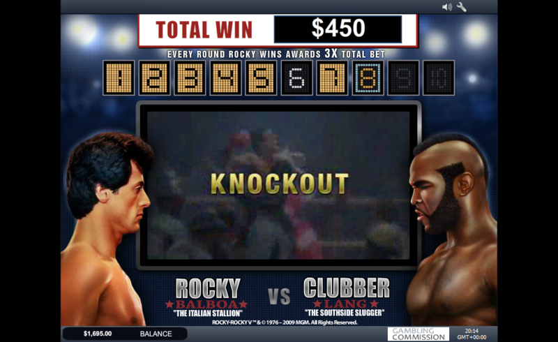 rocky slot knockout bonus