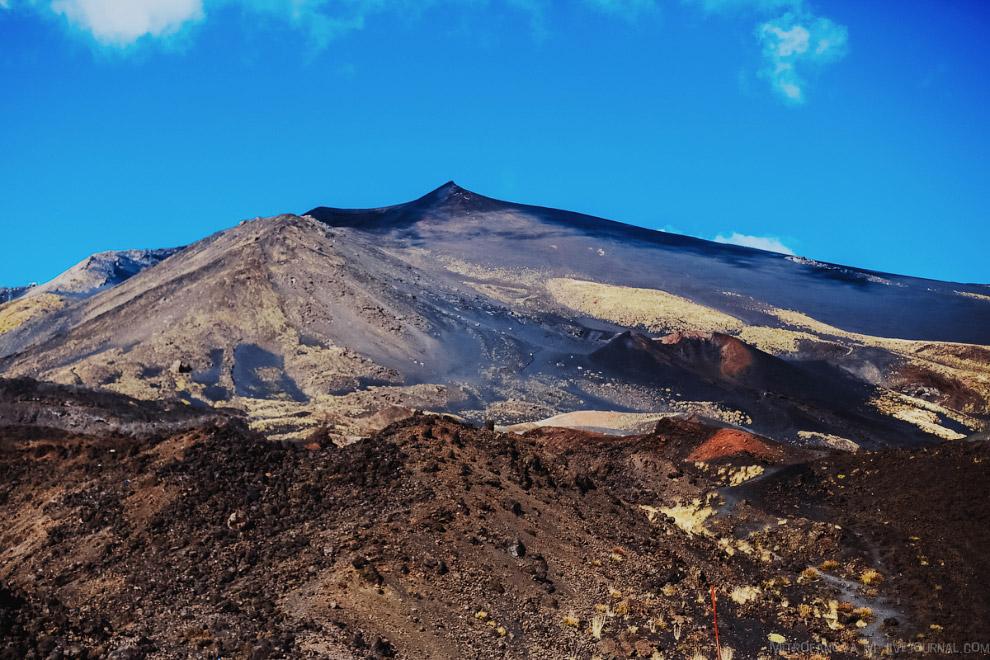 47. Кратеры Сильвестри, которые образованы извержением 1892-го года.