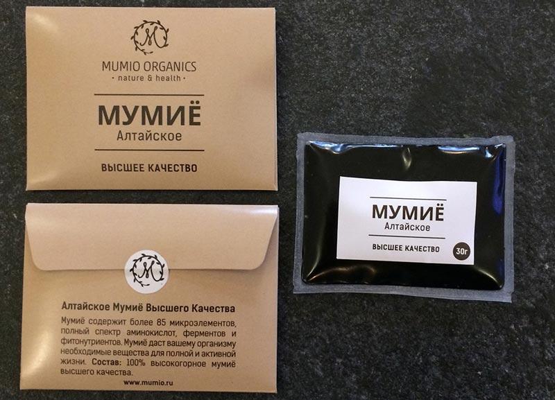 Мумие в коробке