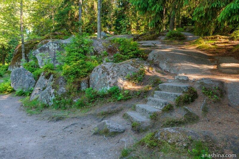 Лестница, парк Монрепо, Выборг