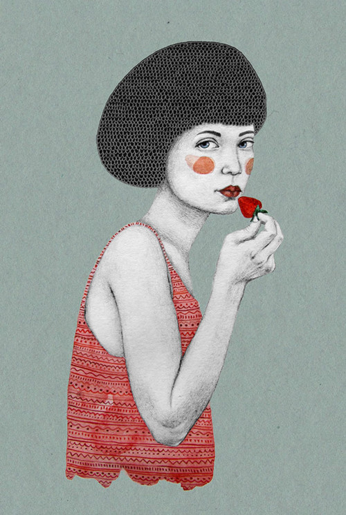 Retro Pencil Drawings of Women