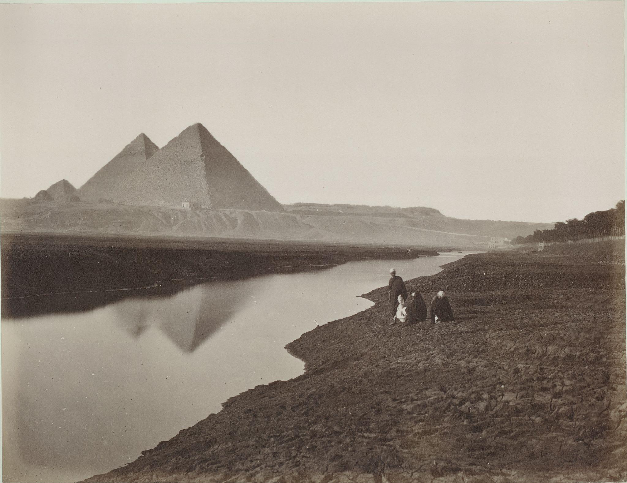 Гиза. Пирамиды с северо-востока