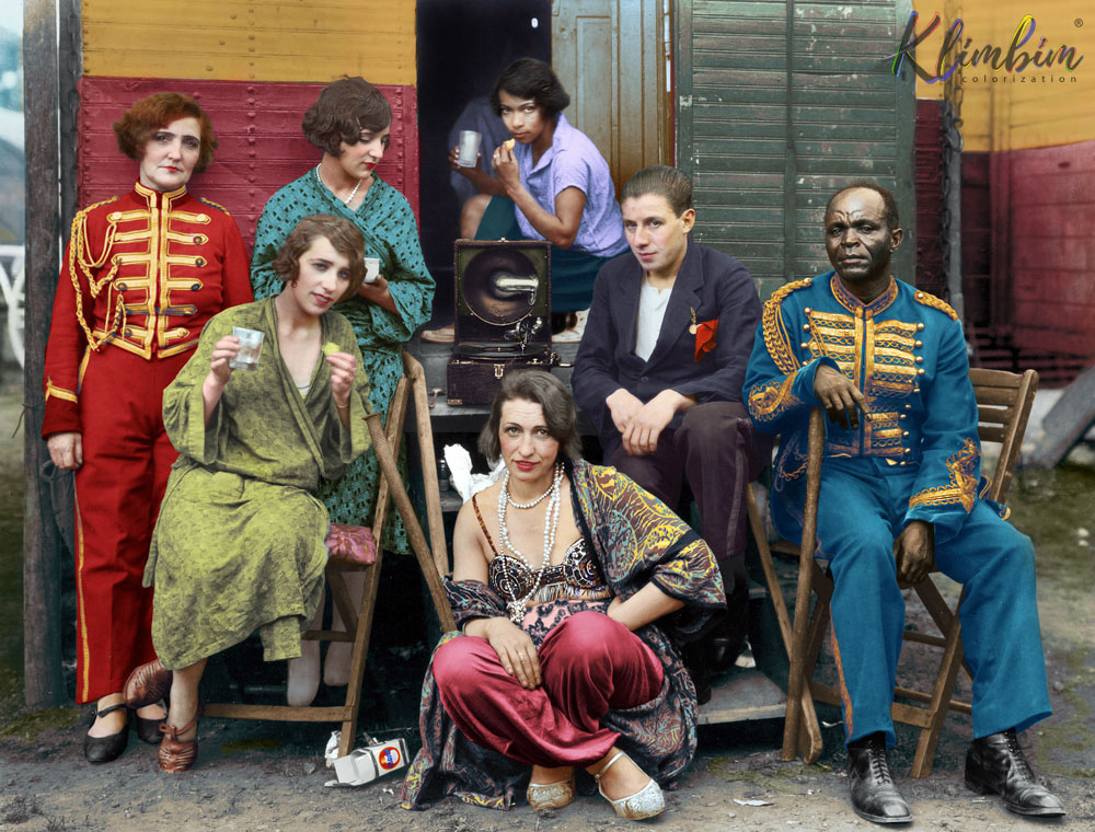 Circus people by August Sander, ca. 1926
