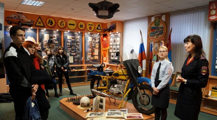 Студенты КГУ посетили Музей истории калужской Госавтоинспекции