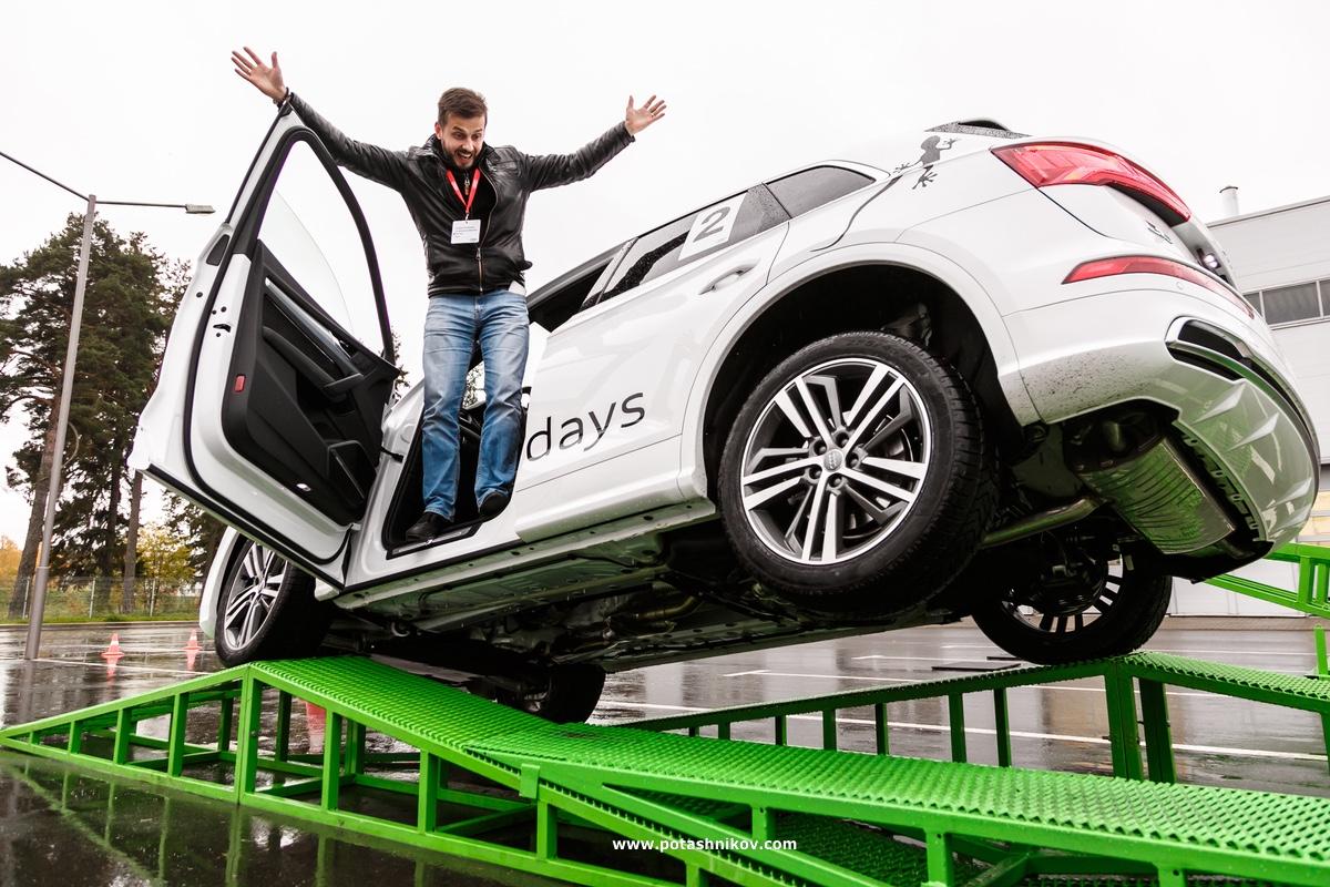Экстремальный тест-драйв нового автомобиля Audi Q5 и Audi Q7 - отличная машина Audi Qattro Day!