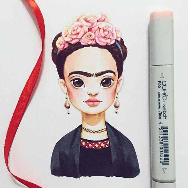 Русская художница Лера Кирякова превращает знаменитостей в иллюстрации
