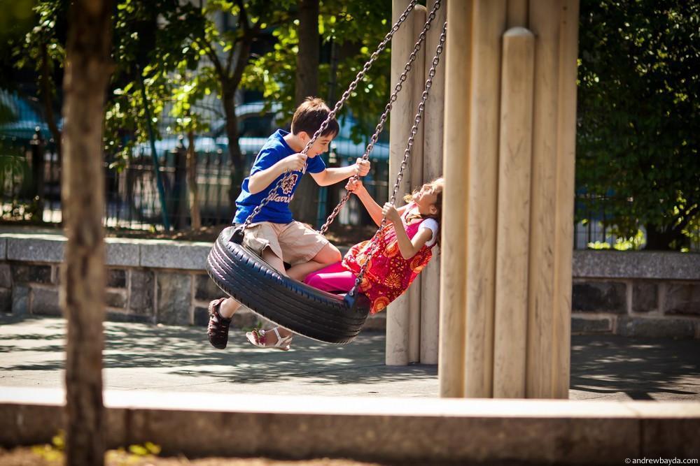 Парк в Бруклине.