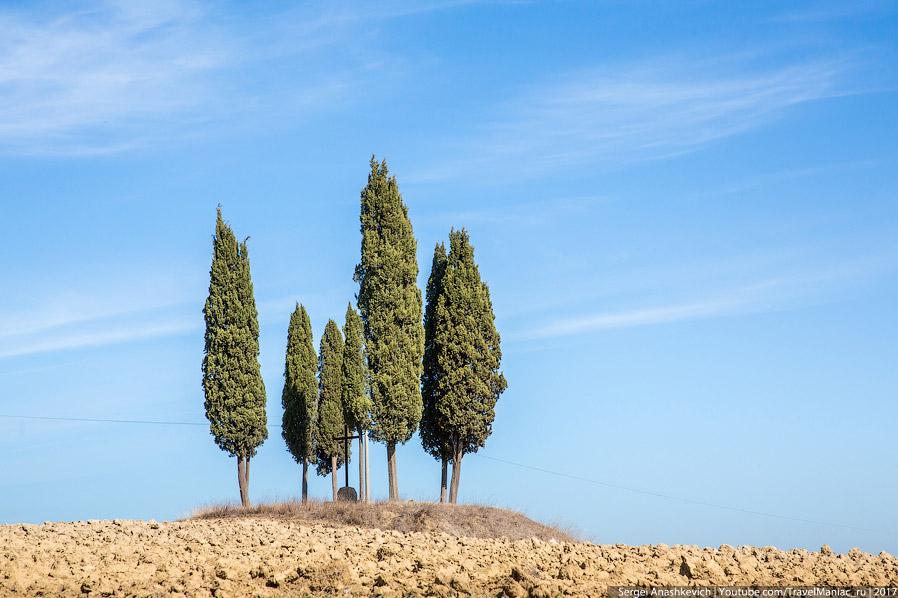 18. Гора Монте-Амиата, которую можно заметить на большинстве тосканских фотографий на заднем плане.