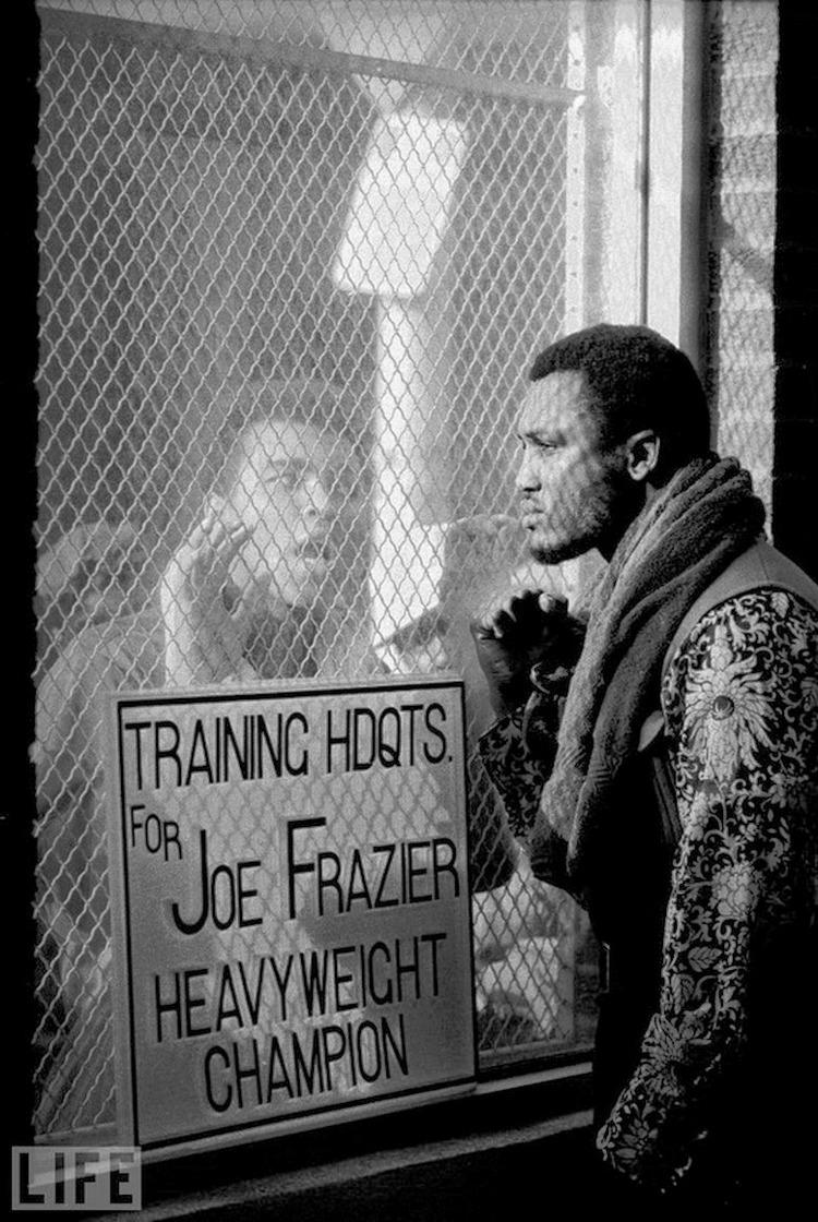 Автор фото: Джон Ширер (John Shearer), 1971. Мухаммед Али перед боем с Джо Фрейзером в марте 1971 го
