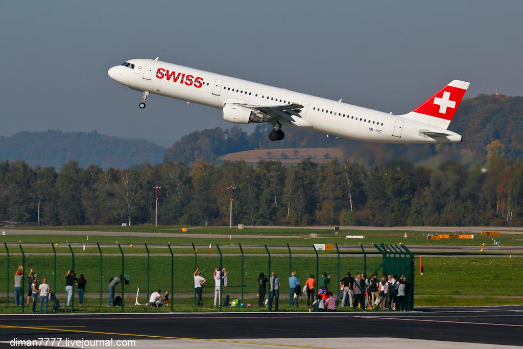 Небольшая вылазка в аэропорт Цюриха