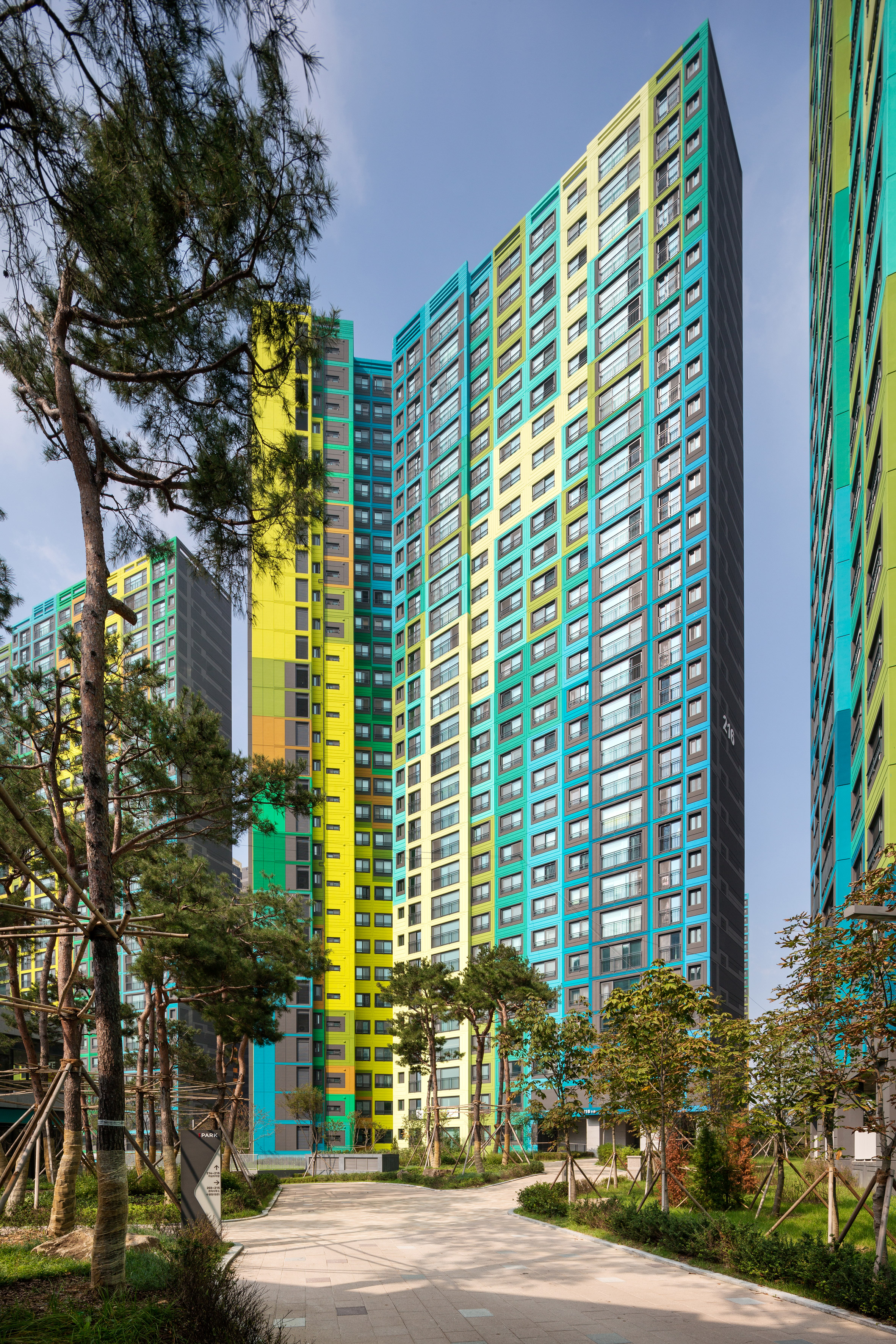 Colorful Blocks in South Korea