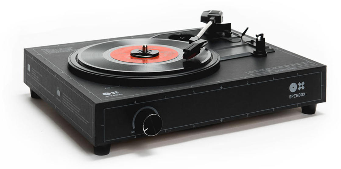 Spinbox – A DIY kit to create your cardboard vinyl turntable