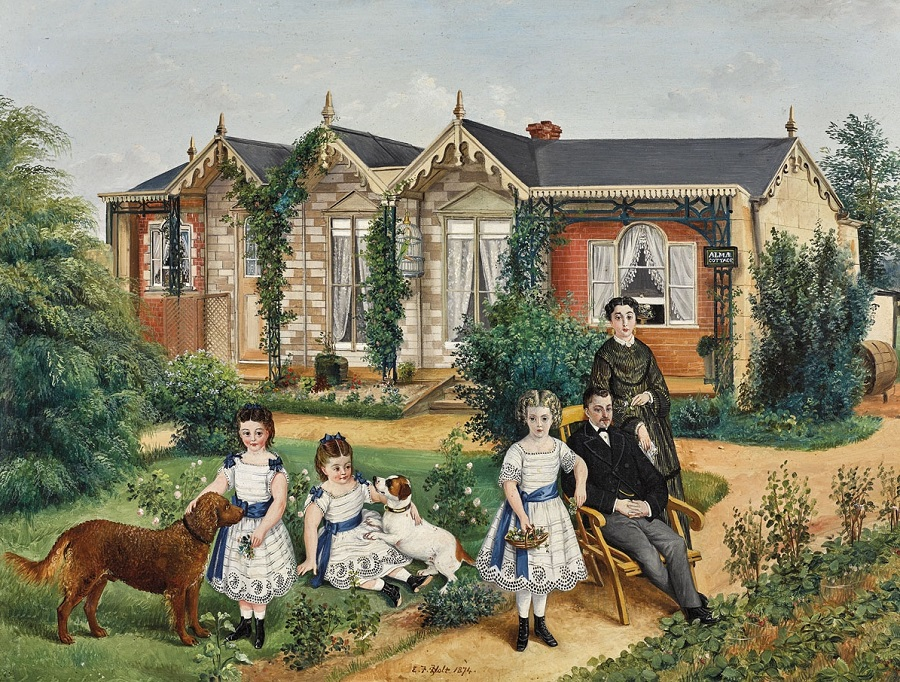 Family Group, Alma Cottage , 1874
