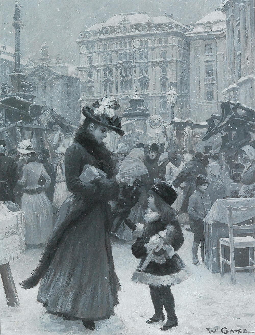 Christkindlmarkt (Christmas market) Am Hof , 1901.