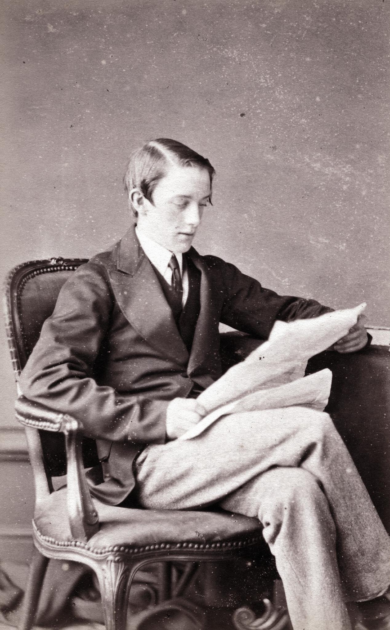 1870. Чтение газеты