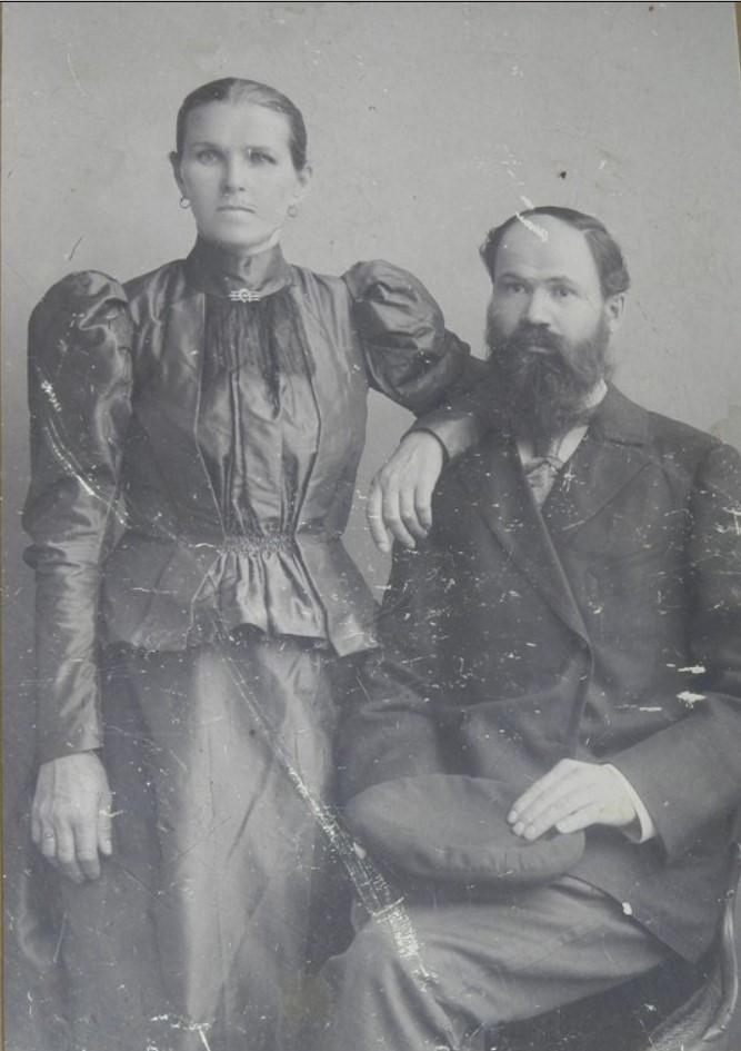 Яков Иванович Якк с женой