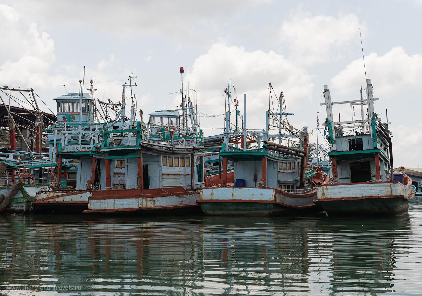 Фото 2. Самая интересная экскурсия за время путешествия по Таиланду на арендованной машине. Рыбацкий флот (320, 60, 8.0, 1/400). Окрестности города Чумпхон