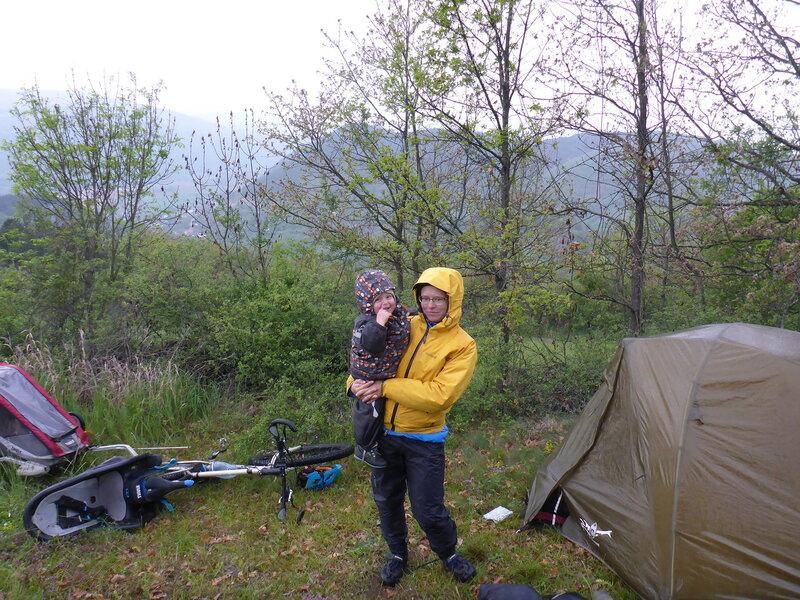 велопоход с ребенком и палаткой