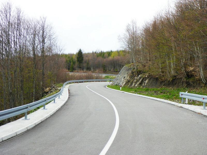 асфальтированная дорога 198 в парке голия (голиjа)