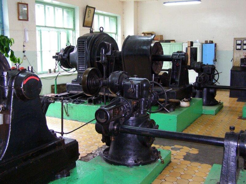 Зал генераторов Чемальской ГЭС