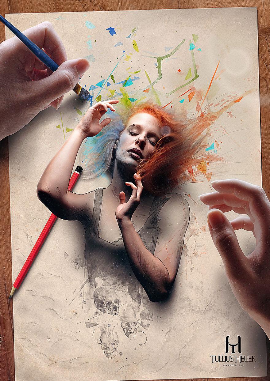 Реалистичные цифровые картины бразильского художника