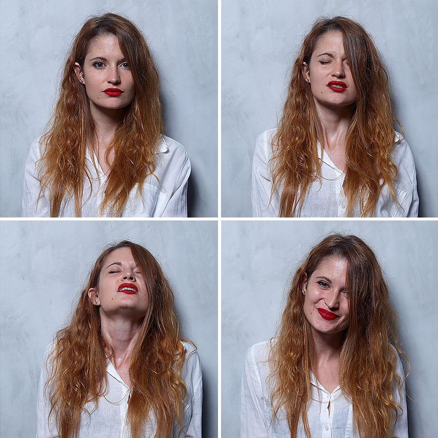 Лица женщин до оргазма, во время и после
