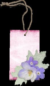 фиолетовые бирки
