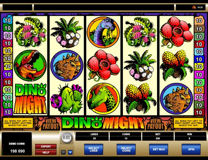Dino Might игровой автомат онлайн