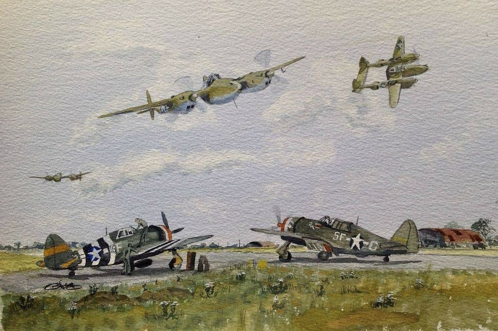 And Lightnings. added these to the Thunderbolt painting today.