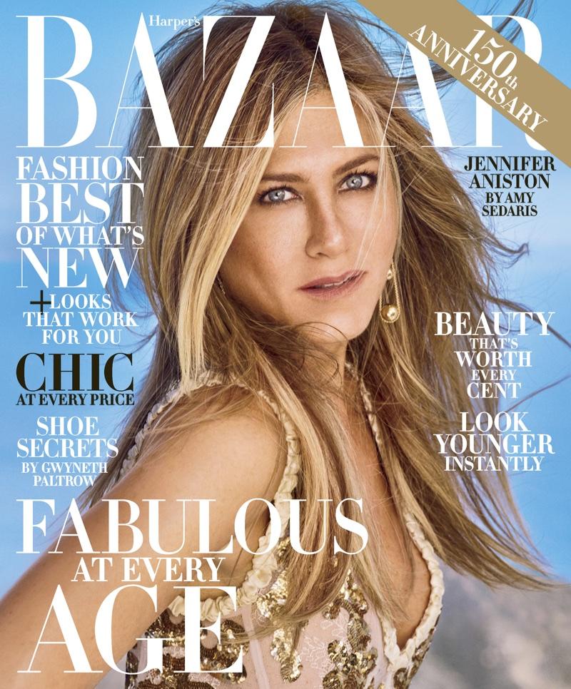 Дженнифер Энистон на обложке Harper's Bazaar US