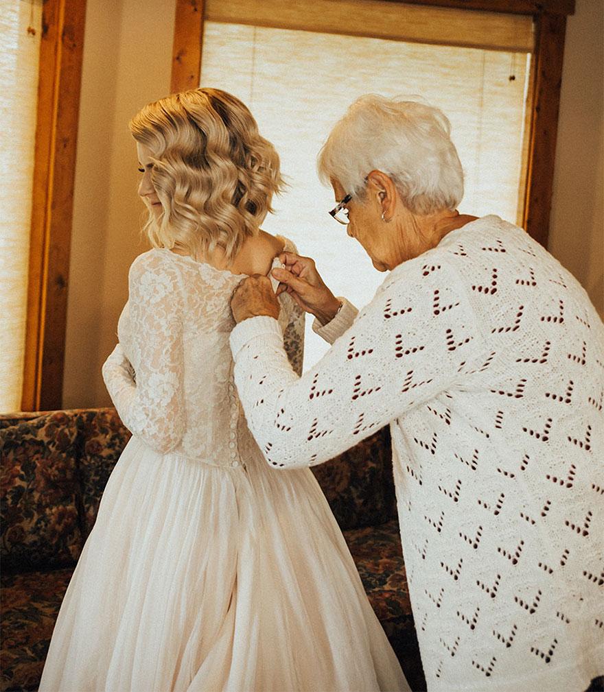 Невеста призналась, что ее бабушка «просто потеряла дар речи».