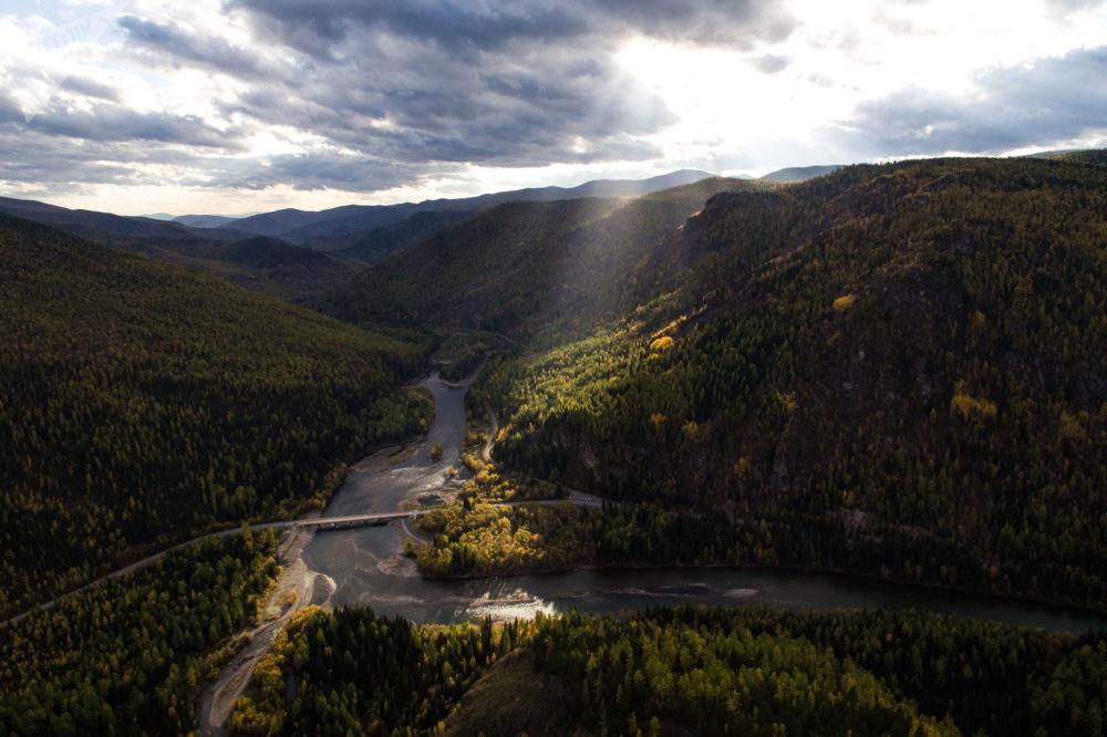 Красивые пейзажи осенней Сибири