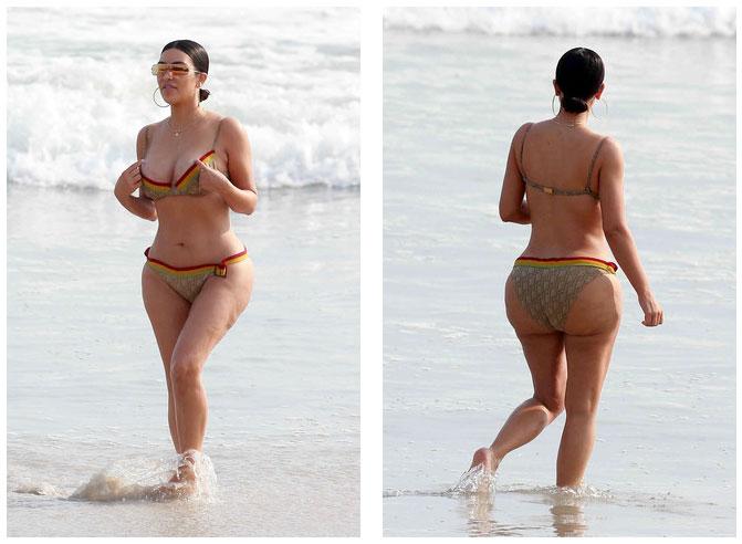 Это фото чуть не довело Ким Кардашьян до депрессии… Ведь в микроблоге звезды ее тело, как ни крути,