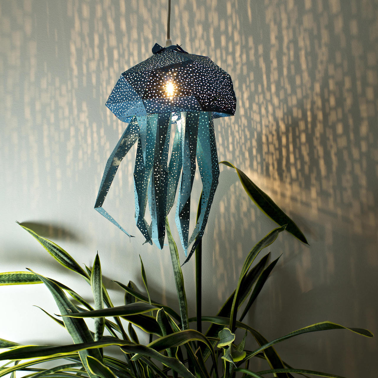 DIY Papercraft Light Shades of Aquatic Life by Vasili (7 pics)