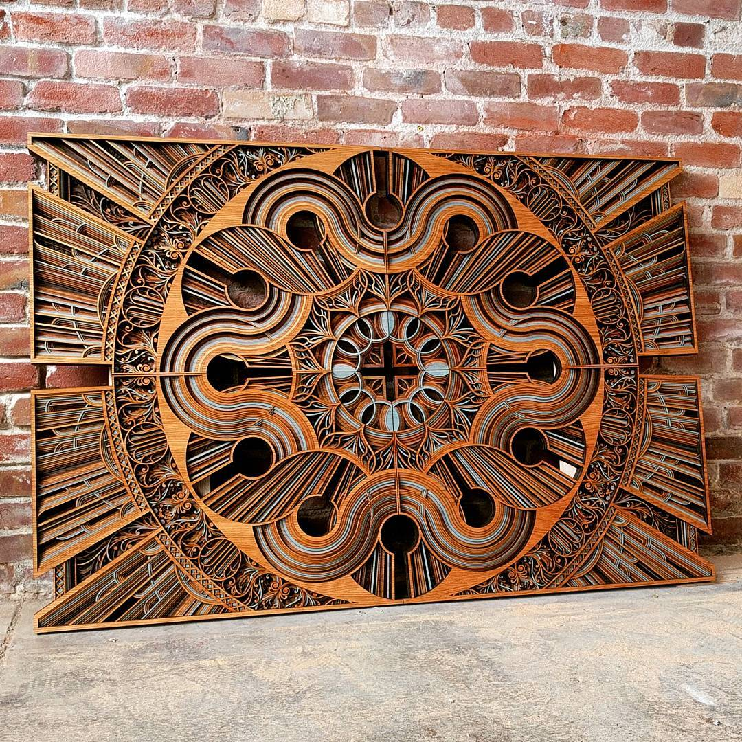Mesmerizing Laser Cut Wooden Sculptures (8 pics)