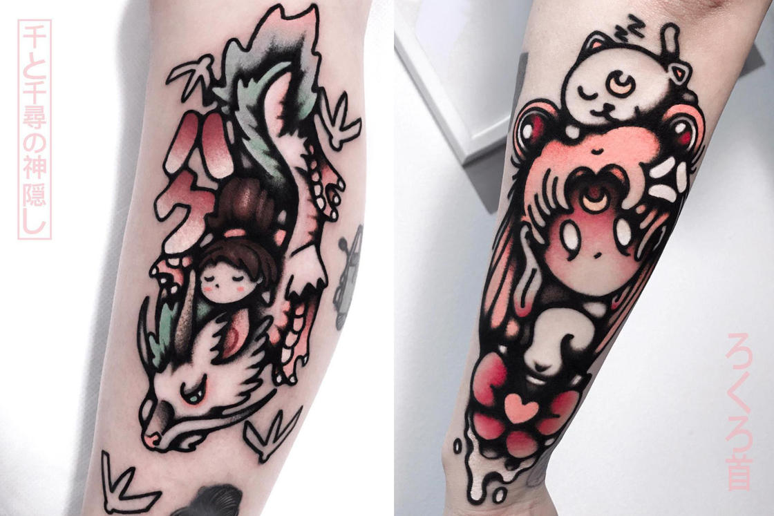 Japan and Pop Culture – The tattoos of Andrea Raudino (17 pics)