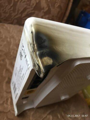 И этот гаджет тоже пострадал в огне